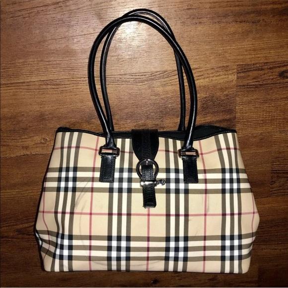 3346452ba4a Burberry Bags | Nova Check Leather Large Eden Tote Bag | Poshmark